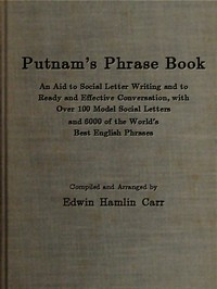 Cover of the book Putnam's Phrase Book by Edwin Hamlin Carr