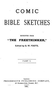 Cover of the book Comic Bible Sketches by G. W. (George William) Foote