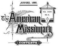 Cover of the book The American Missionary — Volume 39, No. 08, August, 1885 by Various