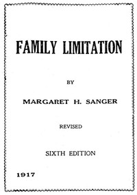 Cover of the book Family Limitation by Margaret Sanger