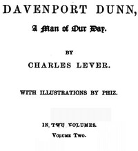 Cover of the book Davenport Dunn, a Man of Our Day. Volume 2 (of 2) by Charles James Lever