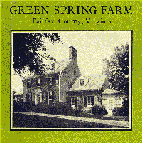 Cover of the book Green Spring Farm, Fairfax County, Virginia by Nan Netherton