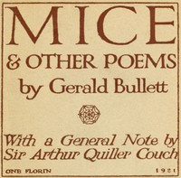 Cover of the book Mice & Other Poems by Gerald Bullett