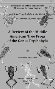 Cover of the book A Review of the Middle American Tree Frogs of the Genus Ptychohyla by William Edward Duellman