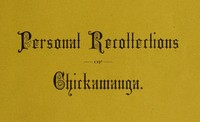 Cover of the book Personal Recollections of Chickamauga by James R. (James Richards) Carnahan