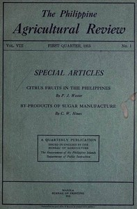 Cover of the book The Philippine Agricultural Review by Various