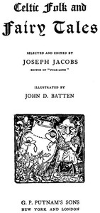 Cover of the book Celtic Folk and Fairy Tales by John Dickson Batten
