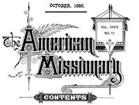 Cover of the book The American Missionary — Volume 39, No. 10, October, 1885 by Various