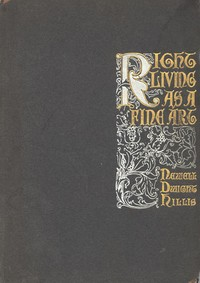 Cover of the book Right Living as a Fine Art by Newell Dwight Hillis