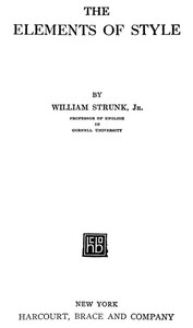 Cover of the book The Elements of Style by William Strunk