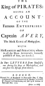 Cover of the book The King of Pirates by Daniel Defoe