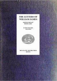 cover for book The Letters of William James, Vol. 2