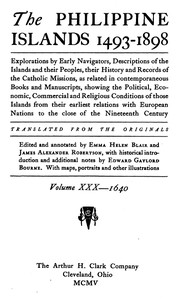 Cover of the book The Philippine Islands, 1493-1898, Volume 30 of 55 by Antonio Alvarez de Abreu