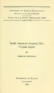 cover for book North American Jumping Mice (Genus Zapus)