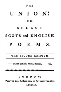 Cover of the book The Union: Or, Select Scots and English Poems by Various