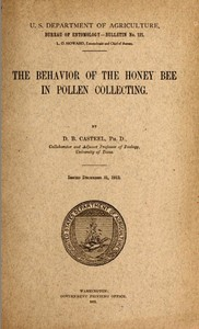 cover for book The Behavior of the Honey Bee in Pollen Collection