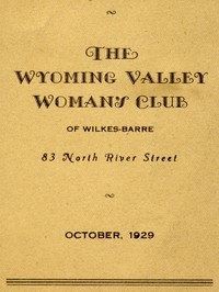 Cover of the book Program for October 1929: The Wyoming Valley Woman's Club of Wilkes-Barre by Anonymous