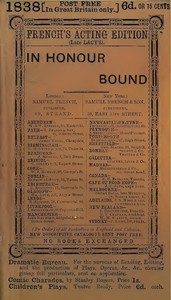 Cover of the book In Honour Bound by Sydney Grundy