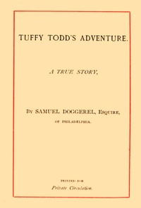 cover for book Tuffy Todd's Adventure