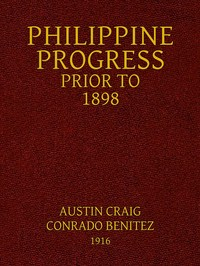 Cover of the book Philippine Progress Prior to 1898 by Various
