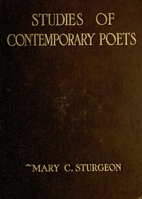 cover for book Studies of Contemporary Poets