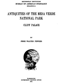 cover for book Antiquities of the Mesa Verde National Park: Cliff Palace