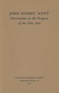 cover for book Dissertation on the Progress of the Fine Arts