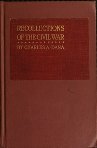 cover for book Recollections of the Civil War