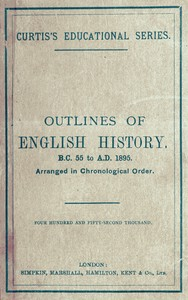 Cover of the book Outlines of English History by John Charles Curtis