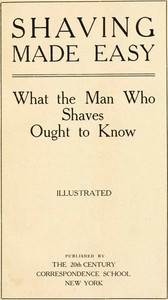 Cover of the book Shaving Made Easy by Anonymous