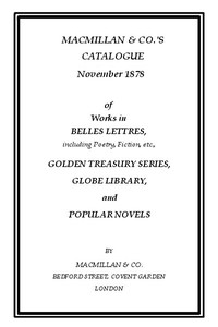 Cover of the book Macmillan & Co.'s Catalogue November 1878 by Various