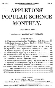 Cover of the book Appletons' Popular Science Monthly, December 1898 by Various