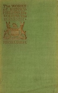 Cover of the book The Works of Henry Fielding; vol. xi by Henry Fielding