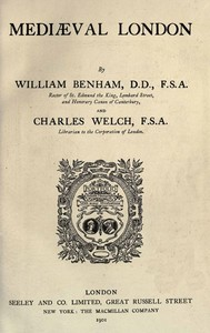 Cover of the book Mediæval London by William Benham