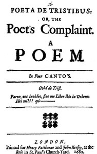 Cover of the book Poeta de Tristibus: Or, the Poet's Complaint by Anonymous