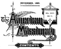 Cover of the book The American Missionary — Volume 39, No. 11, November, 1885 by Various
