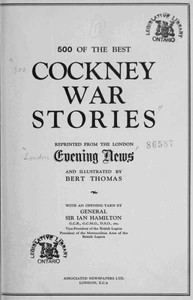 Cover of the book 500 of the Best Cockney War Stories by Various
