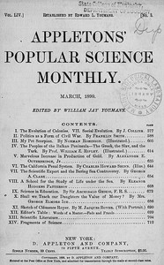 Cover of the book Appletons' Popular Science Monthly, March 1899 by Various