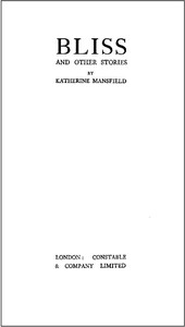 Cover of the book Bliss, and Other Stories by Katherine Mansfield