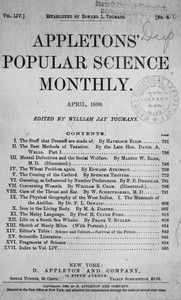 Cover of the book Appletons' Popular Science Monthly, April 1899 by Various