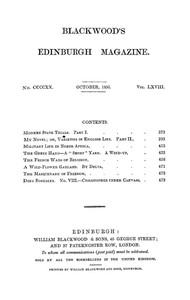 Cover of the book Blackwood's Edinburgh Magazine, Vol. 68, No 420, October 1850 by Various