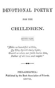 Cover of the book Devotional Poetry for the Children by Various