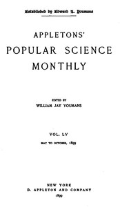 Cover of the book Appletons' Popular Science Monthly, May 1899 by Various