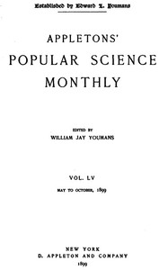 Cover of the book Appletons' Popular Science Monthly, June 1899 by Various