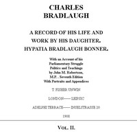 Cover of the book Charles Bradlaugh: a Record of His Life and Work, Volume 2 (of 2) by J. M. (John Mackinnon) Robertson
