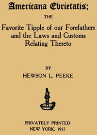 Cover of the book Americana Ebrietatis by Hewson L. Peeke