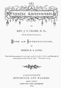 Cover of the book Popular Amusements by J. T. Crane