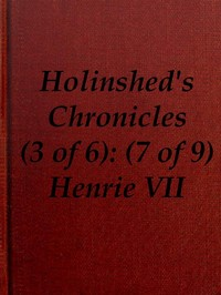 Cover of the book Chronicles of England, Scotland and Ireland (3 of 6): England (7 of 9) by Raphael Holinshed