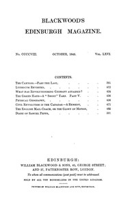 Cover of the book Blackwood's Edinburgh Magazine, Volume 66, No. 408, January 1849 by Various