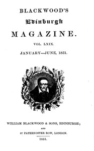 Cover of the book Blackwood's Edinburgh Magazine, Volume 69, No. 423, January 1851 by Various